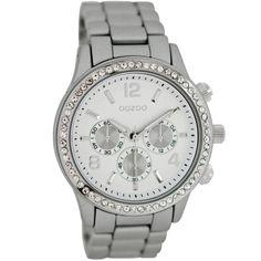Ρολόι Oozoo Timepieces 40mm Silver Case & Bracelet - C6581 - http://rologia.org/%cf%81%ce%bf%ce%bb%cf%8c%ce%b9-oozoo-timepieces-40mm-silver-case-bracelet-c6581/