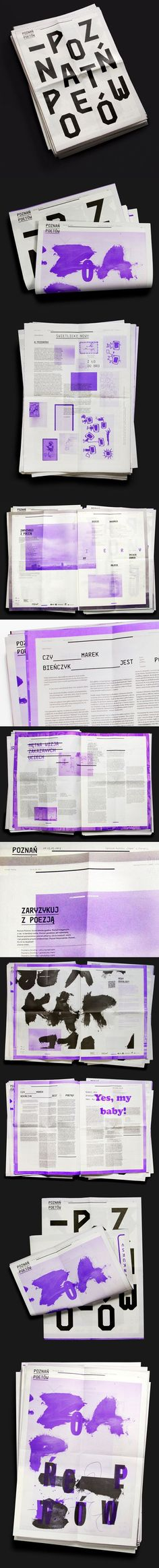 Poets' Poznan Newspaper - PPT design ideas