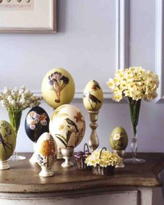 Oversize Botánico Decoupage Huevos de Pascua