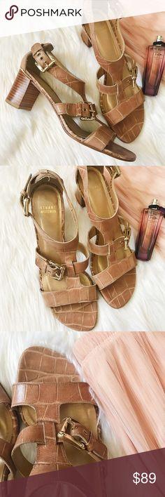 Stuart Weitzman Tan Buckle Heels Stuart Weitzman Buckle Heels // Excellent Condition // Size 9.5 M // Leather Sole // HW03788 Stuart Weitzman Shoes Heels