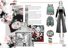 Eastpak project for the artist studio competition 2016 Fashion Sketchbook, Fashion Sketches, Fashion Journalism, Mood And Tone, Fashion Themes, Fashion Collage, Student Fashion, Creative Design, Branding Design