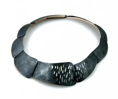 oxidized silver choker by Christy Klug - 660$