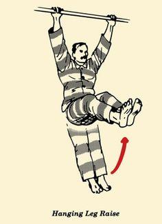illustration, hanging leg, prisoner workout, convict conditioning, bodyweight exercises