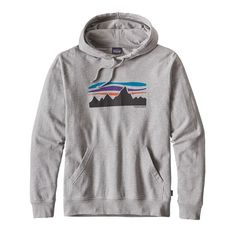 M'S FITZ ROY BANNER LW HOODY, Feather Grey (FEA)