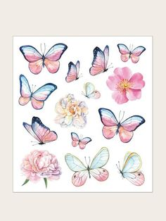 To find out about the Butterfly Pattern Tattoo Sticker at SHEIN, part of our latest Tattoos ready to shop online today! Butterfly Drawing, Butterfly Painting, Butterfly Watercolor, Watercolor Pattern, Butterfly Pattern, Blue Butterfly, Tribal Pattern Tattoos, Tool Tattoo, Latest Tattoos