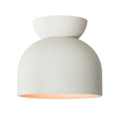Cedar & Moss Terra Ceramic Light. Shown in Bone finish. From the earth. Unglazed clay with a modern, matte finish.