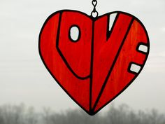 stained glass heart by bepglass on Etsy, $18.00