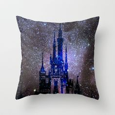 Fantasy Disney Throw Pillow by Guido Montañés - $20.00