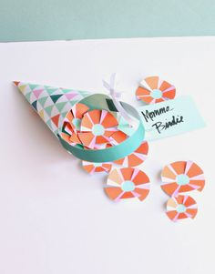 Printable DIY May Day Basket Craft for Kids - Party Favor cone baskets for parties