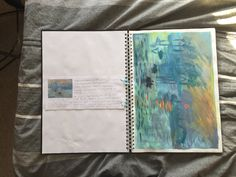 GCSE Sketchbook background on Impressionism