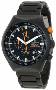 Montres De Luxe Men's 45 MM BLACK Quartz Chronograph Black Dial Watch Montres De Luxe. $281.25. Magnified date display for easy reading. Chronograph function with tachymeter. Water-resistant to 99 feet (30 M). Luminous hands and hour markers; Aluminum link band. Quartz movement. Save 69% Off!