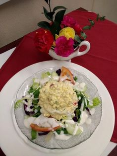 Birches' homemade egg salad mixed with farm fresh veggies and topped with ranch dressing Egg Salad, Cobb Salad, Birches, Assisted Living, Ranch Dressing, Parents, Veggies, Homemade, Fresh
