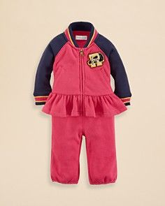 Ralph Lauren Childrenswear Infant Girls' Varsity Jacket & Pants Set - Sizes 3-9 Months