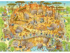 Heye Puzzle - Funky Zoo, African Habitat