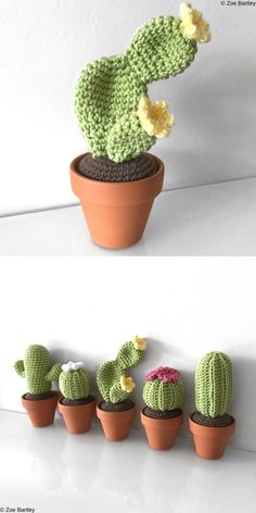 Crochet Cactus Free Pattern, Crochet Amigurumi Free Patterns, Crochet Flower Patterns, Crochet Flowers, Kawaii Crochet, Cute Crochet, Knit Crochet, Crochet Home, Crochet Gifts