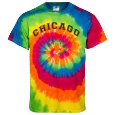 Chicago Men's Tie Dye Chicago Stars Design Tee-Shirt - A Clark Street Sports Exclusive Chicago Shirts, Tee Shirt Designs, Star Designs, Tie Dye, Tee Shirts, Stars, Street, Women, Fashion