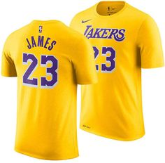 a36c066daa5 LeBron James Los Angeles Lakers Icon Name   Number T-Shirt