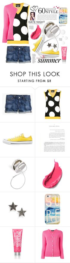 """""""60 second style Date Night.."""" by angiesprad ❤ liked on Polyvore featuring J.Crew, Boutique Moschino, Converse, Ultimate, Dana Rebecca Designs, Casetify and Polo Ralph Lauren"""