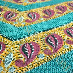 African Print #508. African Design  100% cotton, 44 wide. $13.25 yd