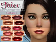 The Sims Resource: Juice Lipgloss Collection by fortunecookie1 • Sims 4 Downloads
