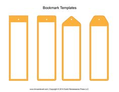 create your own bookmark template - 4 shaped bookmark templates 3 cu4cu on craftsuprint