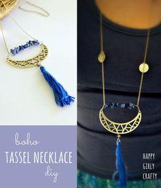 Boho tassel necklace DIY!