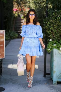 VIVALUXURY - FASHION BLOG BY ANNABELLE FLEUR: COLD SHOULDER // HANGING OUT ON MELROSE