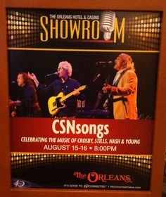 CROSBY, STILLS, NASH AND YOUNG TRIBUTE...CSN SONGS @ ORLEANS