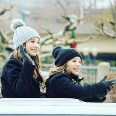 """maddie-ziegler-source: """"Maddie and Mackenzie at the Pittsburgh parade """""""