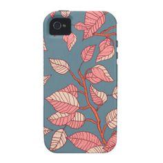 Leaves floral pattern illustration #phonecase #phone #floral