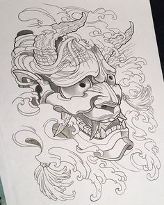 Trying my hand at a black and grey Hannya #Hannya #tattooArt #oriental #tattooflash #drawing #apprentice #apprenticelife #apprenticeart #apprenticetattooist #pencil #artline #youngbloods