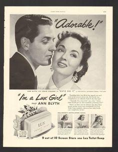 Vintage 1957 Lux Soap Jane Powell Print Ad