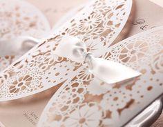 Vintage Spitze Einladung zur Hochzeit/Hochzeitseinladung 2014 mit Spitze Hot online