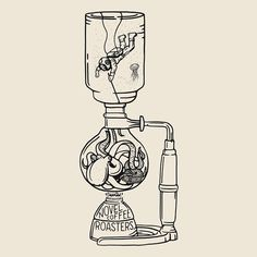 Novel Coffee Roasters Siphon Tee inspired by Leagues Under the Sea - love the octopus. Design by Joshua Minnich. Coffee Cafe, Coffee Humor, Coffee Shop, Coffee Menu, Coffee Signs, Coffee Lovers, Coffee Quotes, Coffee Drinks, Coffee Girl