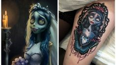 sposa-cadavere-tattoo Geek Tattoos, Piercing, Halloween Face Makeup, Geek Stuff, Inspiration, Geek Things, Biblical Inspiration, Piercings, Inhalation