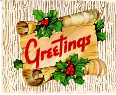 #Christmas greeting mid century