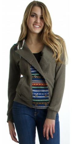 Element League Fleece Jacket in Olive - Urban Laundry (urbanlaundry.com)