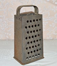 4 Sided Grater Brite Pride Rustic Metal Cheese by WVpickin on Etsy