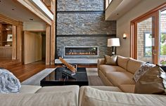 Northwest Territorial Residence - contemporary - living room - seattle