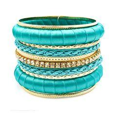Turquoise Candy Bangle Set