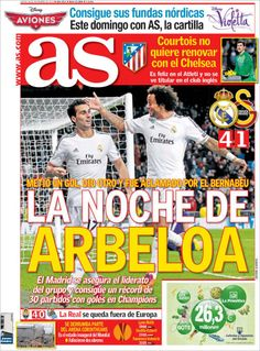 Los Titulares y Portadas de Noticias Destacadas Españolas del 28 de Noviembre de 2013 del Diario AS ¿Que le pareció esta Portada de este Diario Español?
