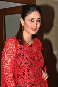 Kareena Kapoor during a promotional event for the forthcoming Hindi film 'Gori Tere Pyaar Mein'.