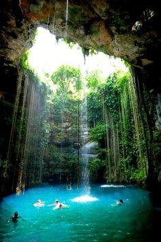 Se baigner dans une piscine naturelle I #Mexique I