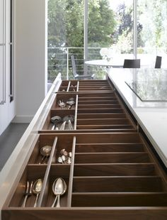 Bespoke kitchen drawers from Roundhouse