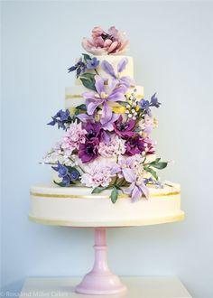 Rosalind Miller Sugar Flower Wedding Cake 8