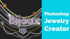 Diamond,Gold, Silver and Pearls Jewelry Photoshop Creator Free Photoshop, Photoshop Tutorial, Photoshop Actions, Photoshop Video, Diamonds And Gold, Pearl Jewelry, The Creator, Pearls, Silver