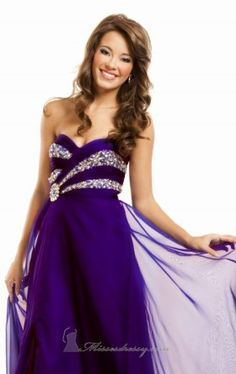 Mini Prom Dresses, Strapless Dress Formal, Formal Dresses, Prom Gowns, Chiffon Dress, Evening Gowns, My Style, Purple, Floor