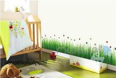 Ladybug Grass Wall Border Decals Removable Windows Stickers Kids Nursery Decor | Home & Garden, Home Décor, Wall Stickers | eBay!