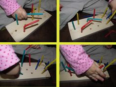 Fine Motor Skills: Handmade Toy for Toddlers How To Make Toys, Fine Motor Skills, Toddler Toys, Handmade Toys, Wooden Toys, Toddlers, Triangle, Diy, Craftsman Toys