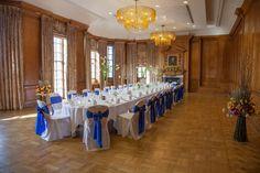 Photographer: Ashley Nesbitt  Wedding Set up in The Grand Boardroom.